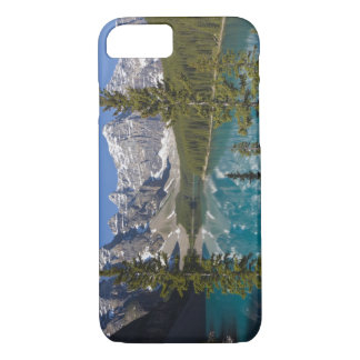 Coque iPhone 8/7 Lac moraine, Canadien les Rocheuses, Alberta,