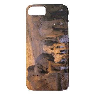 Coque iPhone 8/7 L'Afrique, Kenya, masai Mara. Éléphants (Loxodonta