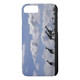 Coque iPhone 8/7 L'Afrique, Kenya, masai Mara. Girafes (Giraffa