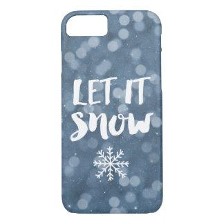 Coque iPhone 8/7 Laissez lui neiger flocon de neige de Bokeh de