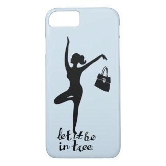 Coque iPhone 8/7 Laissez lui soyez dans créatif inspiré par yoga de