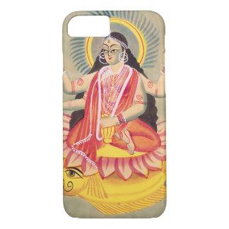 Coque iPhone 8/7 Laksmi se reposant sur un trône de lotus part,