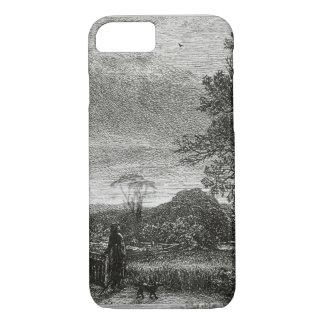 Coque iPhone 8/7 L'alouette (gravure à l'eau-forte)