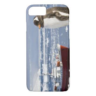 Coque iPhone 8/7 L'Antarctique, crique de Neko (port). Pingouin de