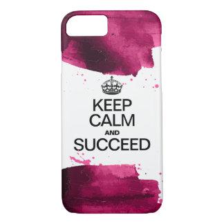 Coque iPhone 8/7 L'aquarelle/gardent le calme et réussissent