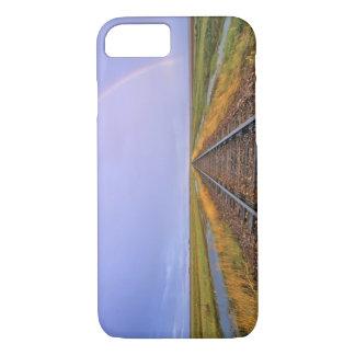 Coque iPhone 8/7 L'arc-en-ciel au-dessus des voies ferrées