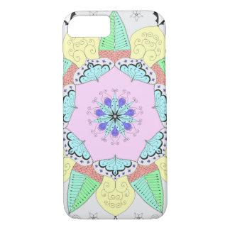 Coque iPhone 8/7 L'art de mandala modèle le yoga floral OM de fleur