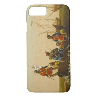 Coque iPhone 8/7 L'atterrissage de Columbus, c.1837 (huile sur la