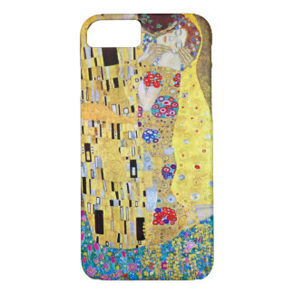 Coque iPhone 8/7 Le baiser par Gustav Klimt, art vintage Nouveau