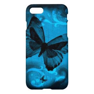 Coque iPhone 8/7 le beau remous de bleu buterfly raye l'art de