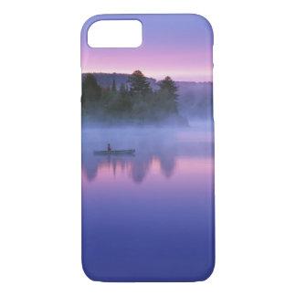 Coque iPhone 8/7 Le Canada, Ontario, parc d'Algonguin, canoéiste