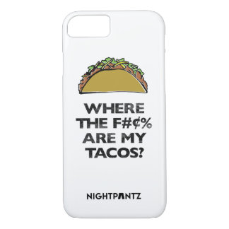 Coque iPhone 8/7 Le cas de téléphone de S-x&Tacos d'Omar Cano