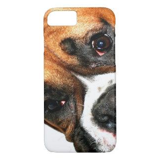Coque iPhone 8/7 Le chien de boxeur observe l'iPhone 8/7 cas