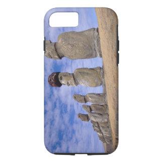Coque iPhone 8/7 Le Chili, île de Pâques. Les 15 Moais chez Ahu