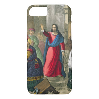 Coque iPhone 8/7 Le Christ nettoie le temple, d'un b imprimé par