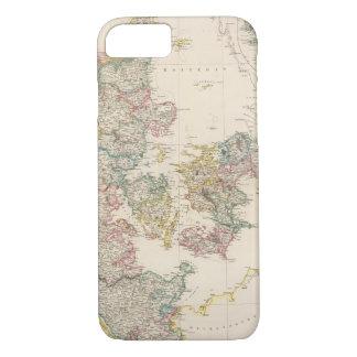 Coque iPhone 8/7 Le Danemark avec la carte d'encart de l'Islande