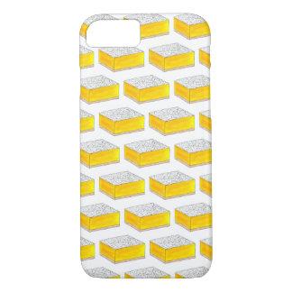 Coque iPhone 8/7 Le dessert de pâtisserie de barre carrée de citron