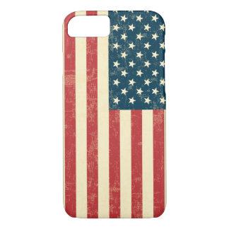 Coque iPhone 8/7 Le drapeau américain âgé s'est fané