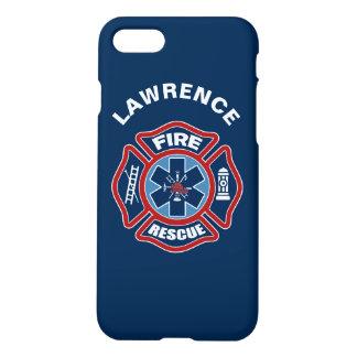 Coque iPhone 8/7 Le feu et rouge et bleu de délivrance
