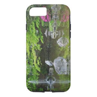 Coque iPhone 8/7 Le Japon, Kyoto. Héron dans le feuille vert frais