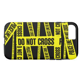Coque iPhone 8/7 Le jaune ne traversent pas des zones dangereuses