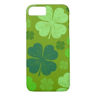 Coque iPhone 8/7 Le jour de Patrick de saint, trèfles chanceux -