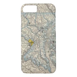 Coque iPhone 8/7 Le Maryland, C.C, et le Delaware