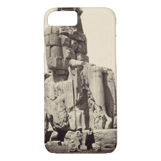 "Coque iPhone 8/7 ""Le Memnon vocal"", statue colossale d'Amenhotep I"