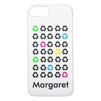 Coque iPhone 8/7 Le noir coloré réutilisent des symboles