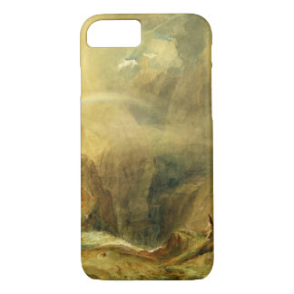 Coque iPhone 8/7 Le pont du diable, passage de St Gotthard, c.1804