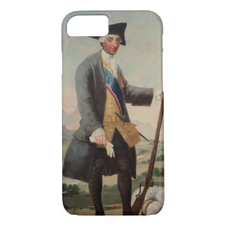 Coque iPhone 8/7 Le Roi Charles III (1716-88) en tant que chasseur,