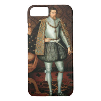 Coque iPhone 8/7 Le Roi James I de l'Angleterre (1566-1625) (huile