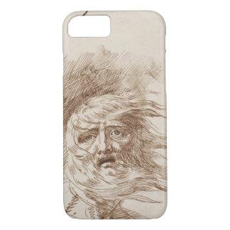 Coque iPhone 8/7 Le Roi Lear dans la tempête (encre de stylo et de