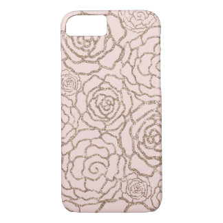 Coque iPhone 8/7 Le scintillement rose | de Faux d'or rougissent