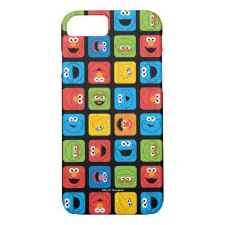 Coque iPhone 8/7 Le Sesame Street a cubé le motif de visages