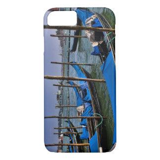 Coque iPhone 8/7 L'eau de canal grand avec des bateaux de gondalo