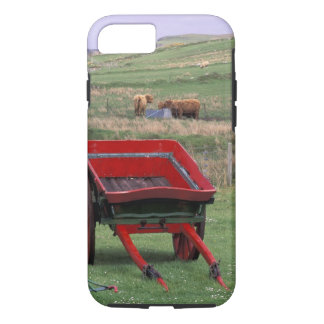 Coque iPhone 8/7 L'Ecosse, île de Skye, Kilmuir. Animaux de ferme