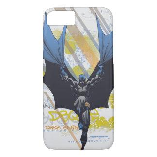 Coque iPhone 8/7 Légendes urbaines de Batman - graffiti foncé de