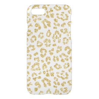 Coque iPhone 8/7 Léopard de scintillement d'or clair