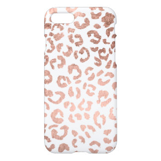 Coque iPhone 8/7 Léopard rose tiré par la main luxueux d'or
