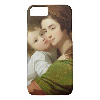 Coque iPhone 8/7 L'épouse de l'artiste, Elizabeth, et leur fils