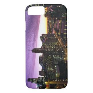 Coque iPhone 8/7 Les Etats-Unis, IL, Chicago. Horizon et rivière de