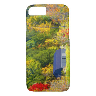 Coque iPhone 8/7 Les Etats-Unis, Vermont. Foilage de chute le long
