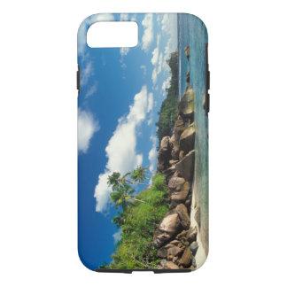 Coque iPhone 8/7 Les Seychelles, île de Mahe, baie de Lazare