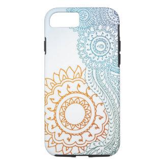 Coque iPhone 8/7 Lever de soleil détaillé d'abrégé sur henné