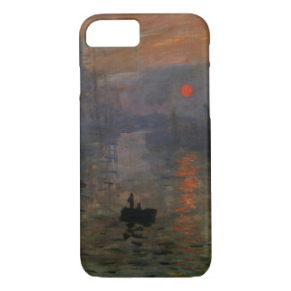 Coque iPhone 8/7 Lever de soleil d'impression par Claude Monet, art