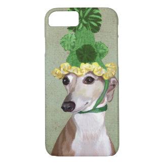 Coque iPhone 8/7 Lévrier dans le casquette tricoté par vert