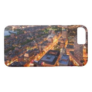 Coque iPhone 8/7 L'horizon de Boston au crépuscule