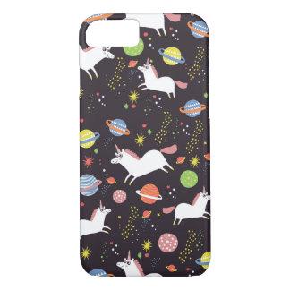 Coque iPhone 8/7 licornes de l'espace