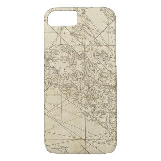 Coque iPhone 8/7 L'île du Cuba avec une partie du Bahama encaisse